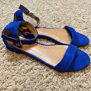 NWOT J. Crew Hadley suede ankle-strap sandals